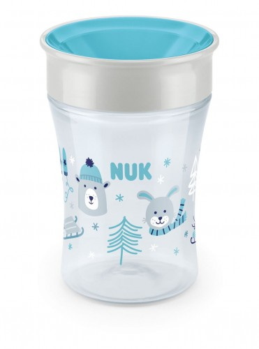 "Kubek ""niekapek"" NUK Magic Cup Winter Wonderland_turkusowy"